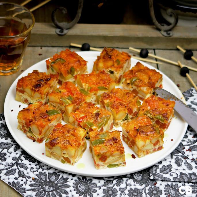 Recept Spaanse tortilla de patatas met chorizo en paprika