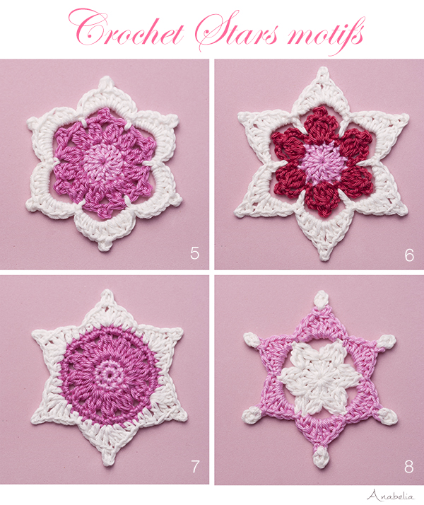 Christmas crochet stars motifs by Anabelia Craft Design