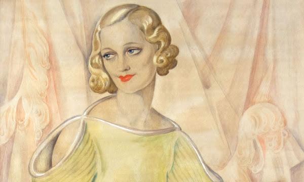 Gerda Wegener的自畫像與照片(1904)