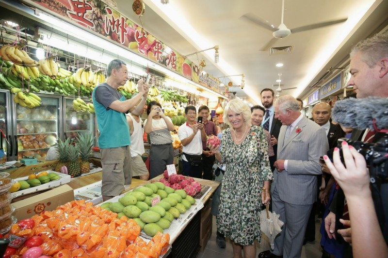 Their Royal Highnesses at Tiong Bahru Market's Asia fruits.