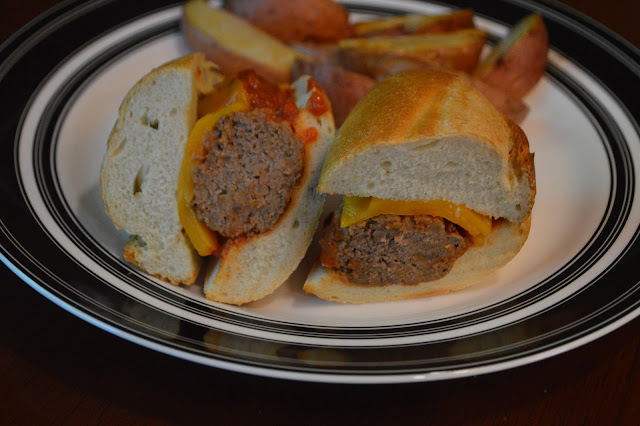 Cheeseburger Meatball Sandwiches