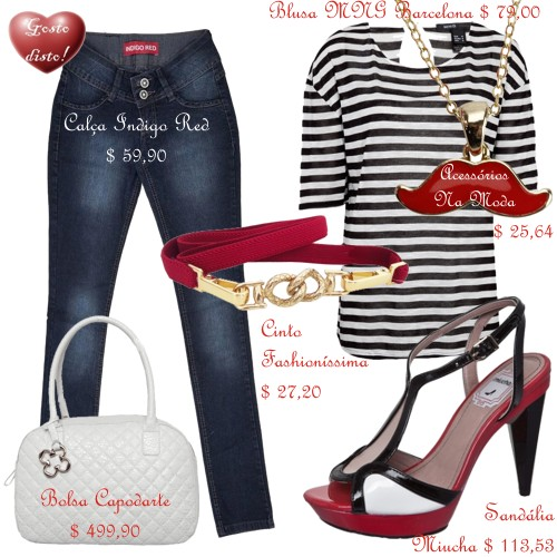 Como usar: Camiseta listrada - How to wear: Striped t-shirt