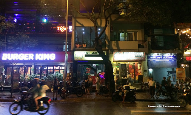 The Hideout Hostel's location at Pham Ngu Lao, Ho Chi Minh City