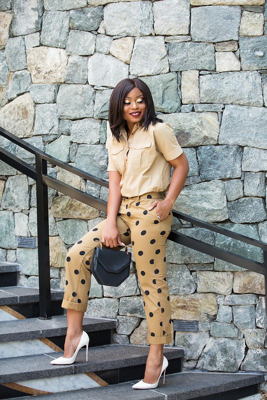 Polka dot chinos, www.jadore-fashion.com
