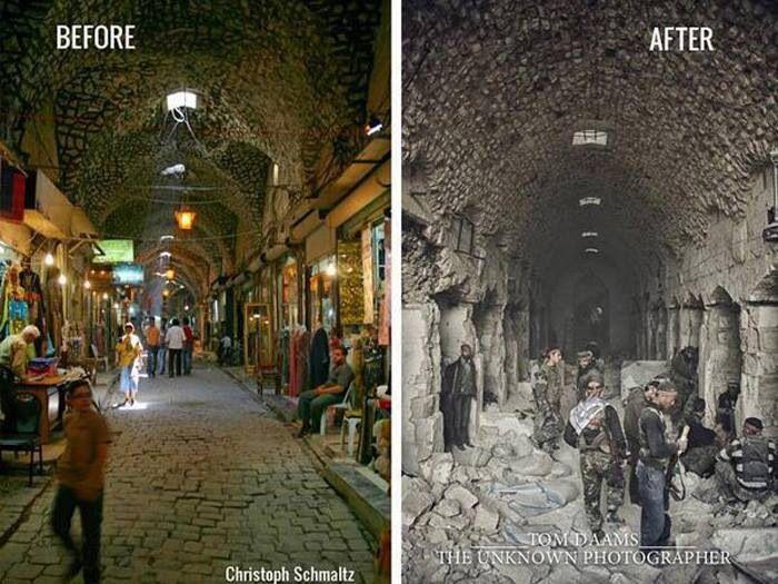 بالصور: سوريا قبل وبعد الحرب !!