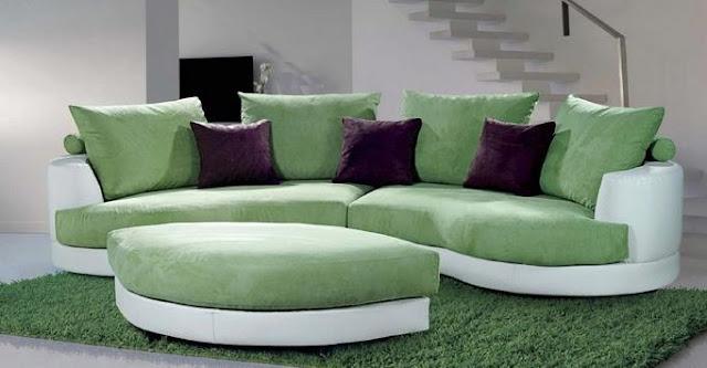 Modelos de sillones sof verde para sala for Sillones living