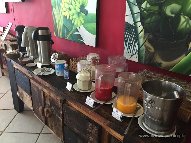 Café da manhã da pousada Blue Marlin, em Búzios