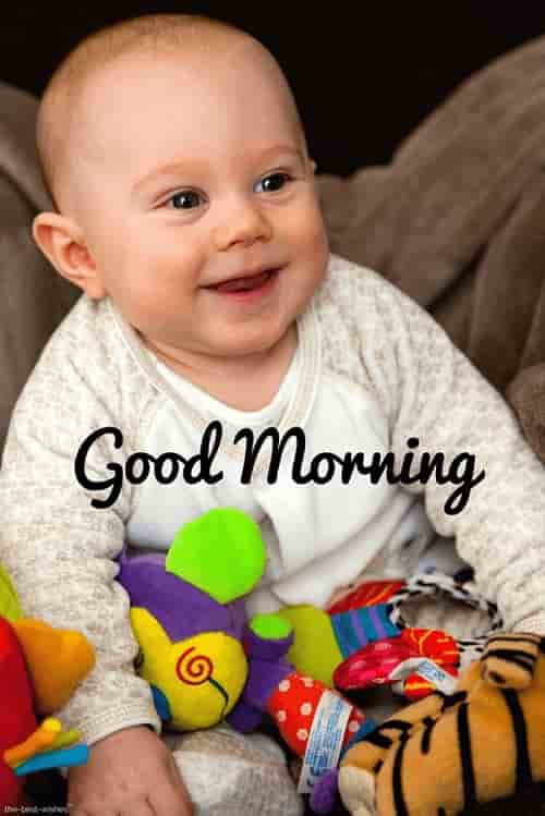good morning smiling baby images