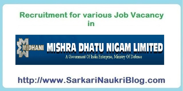 Naukri Vacancy Recruitment Oil India Limited