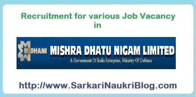 Naukri Vacancy Recruitment Oil India Limited