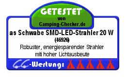 Testsiegel LED-Strahler as Schwabe