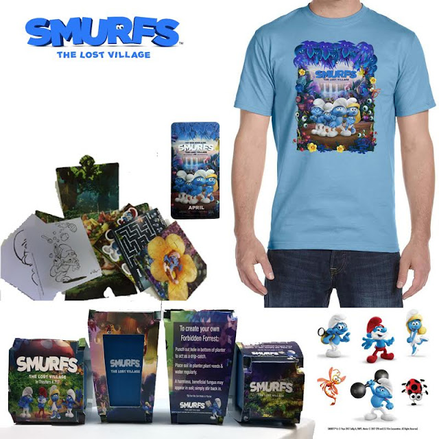 SMURFS The Lost Village swag #giveaway prize pack