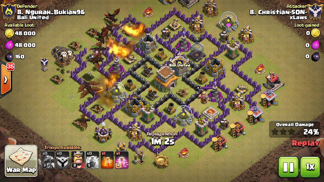 serangan naga th 8 clash of clans