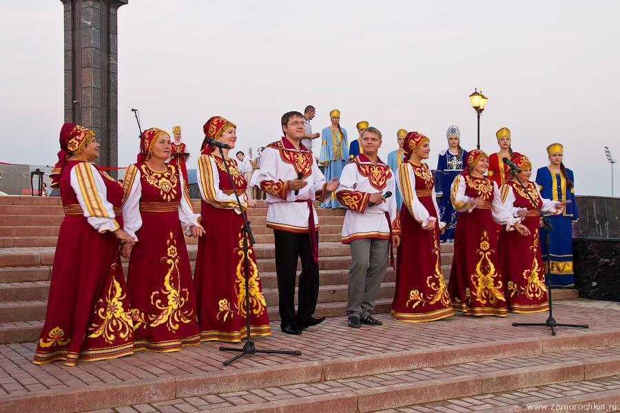 Концерт Саранских артистов на отткрытии фонтанного комплекса Навеки с Россией