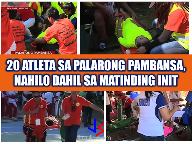 """Due to the extreme heat experienced in the country, Antique Provincial Risk Reduction Management Office (PDRRMO) said that  at least 20 student-athletes collapsed during the opening of the Palarong Pambansa on Sunday. Five of them were rushed to the hospital in San Jose after experiencing dizziness. The rest were brought to the designated clinics for medical attention.   The Department of Education (DepEd), has decided to postpone outdoor games from 10 a.m. to 12 n.n. on Monday to avoid untoward incidents that can be brought about by extreme temperatures. 12,000 athletes at around 26 disciplines are said to be competing on this event at the Binayaran Sports Complex in Antique.   It is the first time for the history of the province of Antique to be hosting such events. Themed, """"2017 Palarong Pambansa: """"Converges Youth Power, Builds Sustainable Future,"""" it is the 60th edition of the Palarong Pambansa with participating athletes from different parts of the country. It is the convergence of best student athletes from 18 regions of the country competing in different events and discipline.   The temperature in San Jose Antique ranges from 29° to 30°C but the real feel indicates 33 to 41°C due to humidity. It will probably be unforgiving to the athletes. Heat strokes might likely occur and the presence of the medics and the PDRMMO is vital for the safety of the event. RECOMMENDED: KumpaS OFW (Kumpulan ng Pangulo Sa mga Filipinos Worldwide) is a compilation of OFW stories, success and failure likewise,  gathered by the Presidential Communications Office to show the real situations of the OFWs working outside the country.  All video clips belong to the Presidential Communications Office. Watch and be inspired. Story #1   This video is the story of an OFW in Saudi Arabia. A former household service workers who strived to succeed and became a successful business woman. She worked as a beautician and eventually put up her own recruitment firm. She devoted herself to helping dis"""
