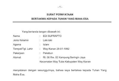 surat pernyataan pdf