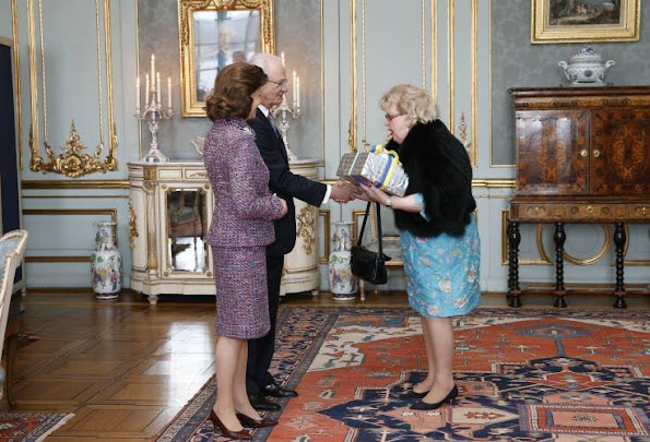 King Carl Gustaf and Queen Silvia of Sweden received guests and gifts at a reception for the King's 70th birthday celebrations