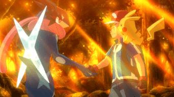 Capitulo 46 Temporada 19: ¡Adiós Greninja Ash! ¡El contraataque de Xerosic!