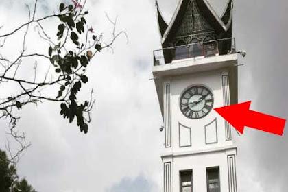 Misteri Angka 4 di Jam Gadang Bukittingi. Typo atau Jumlah Tumbal?