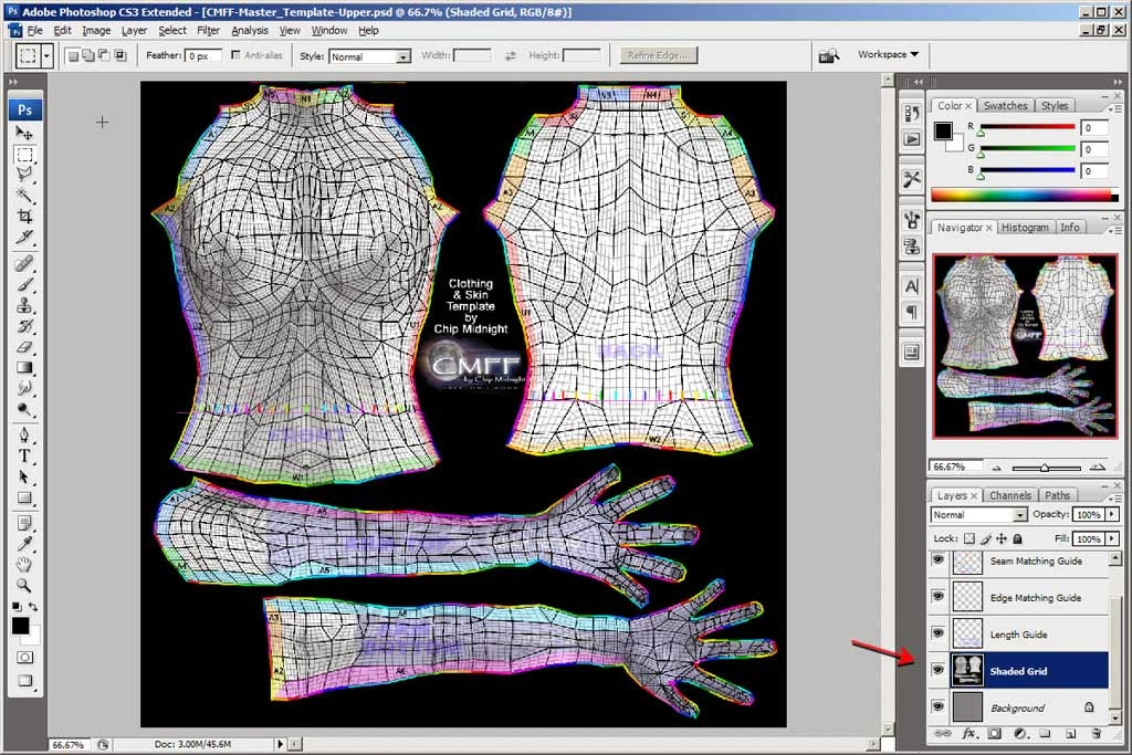 Wild style fashions tm beginning photoshop tutorial for for Chip midnight templates