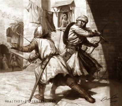assassin depicted on film, games or novel