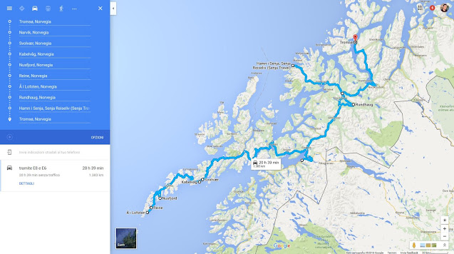 Itinerario on the road alle isole Lofoten