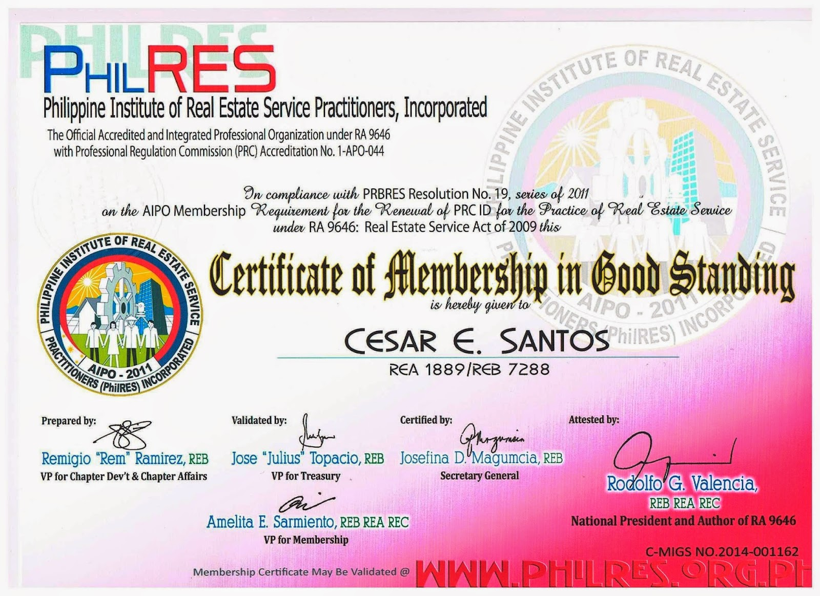 How To Apply For Philres Membership In Good Standing C Migs Ces