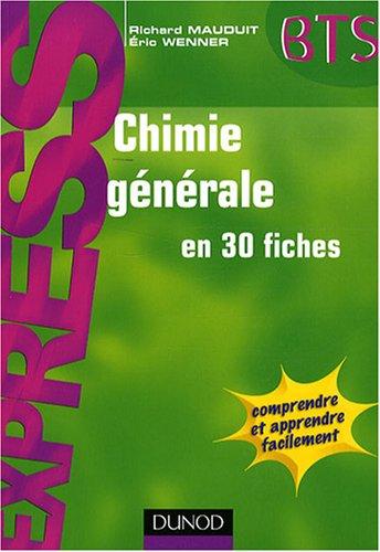 Livre Express Chimie générale en 30 fiches PDF