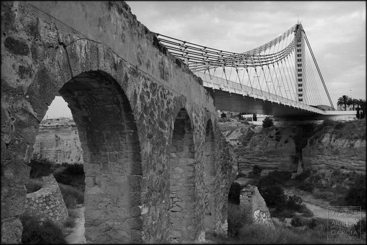 elche,arquitectura,puente,acueducto,bimilenario,fotografia