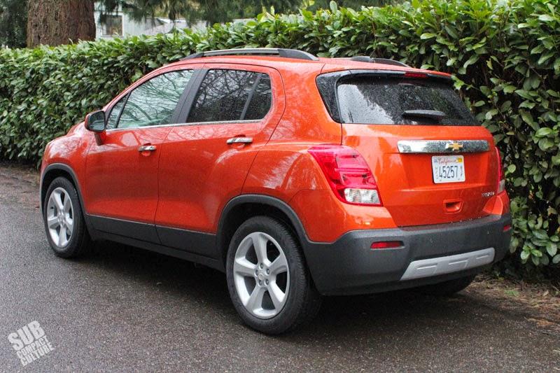 2015 Chevrolet Trax LTX rear 3/4