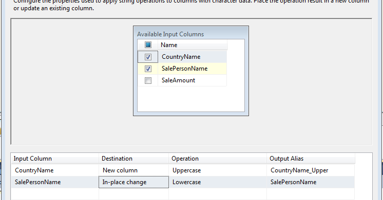 """Welcome To TechBrothersIT: SSIS - How to Use """"Character"""
