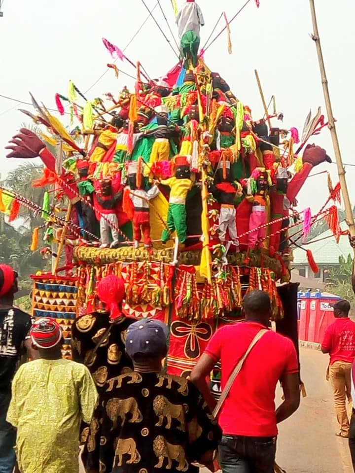'Biggest Masquerade' Appears in Anambra As Last Ofala Festival Is Celebrated In Honour Of Their Late Igwe Godfrey