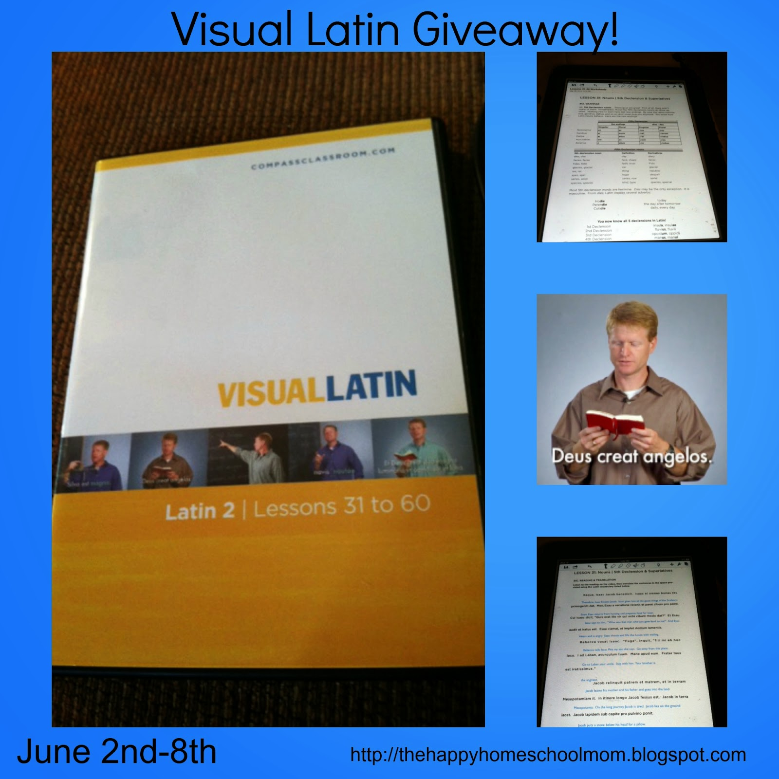 The Happy Homeschool Mom Visual Latin Review And Giveaway