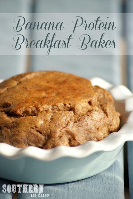 Banana Protein Breakfast Bakes - Peanut Flour Banana Bread