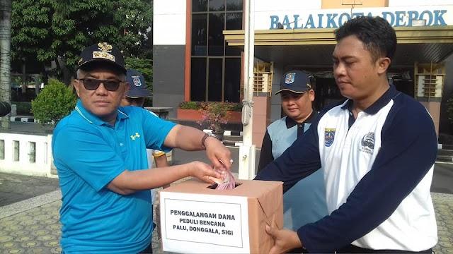 Pemkot Depok Galang Dana Korban Gempa dan Tsunami Palu-Donggala