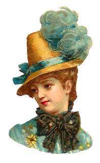 hat fashion antique image women download printable