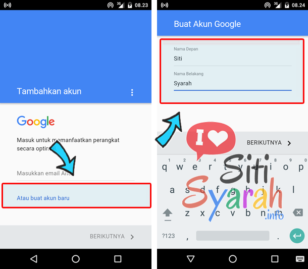 ganti email android