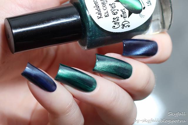 магнитный лак для ногтей Kaleidoscope, кошачий глаз 'Гламуррр мур-мур