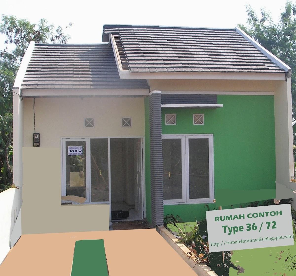 Denah Rumah  Sederhana Minimalis Type  36 Desain  Rumah