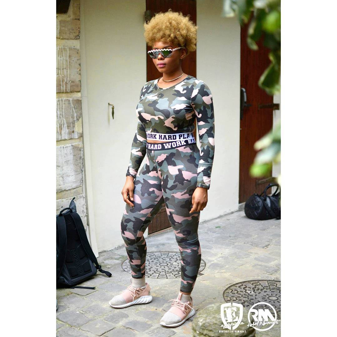 Yemi Alade steps out in Army camouflage