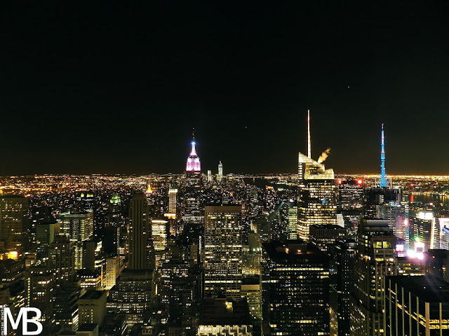 top of the rock vista by night