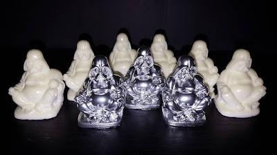 "Metallic ""Silver Saint"" & Glow in the Dark ""Radioactive"" Darth Buddha Star Wars Resin Figures by Random Skull Productions"