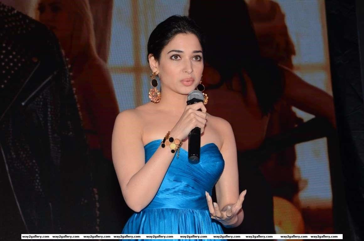Tamannaah Bhatia looked stunning at the audio launch of Telugu film Abhinetri