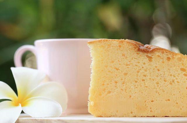 pastel de queso de solo 3 ingredientes. Pastel de queso japonés