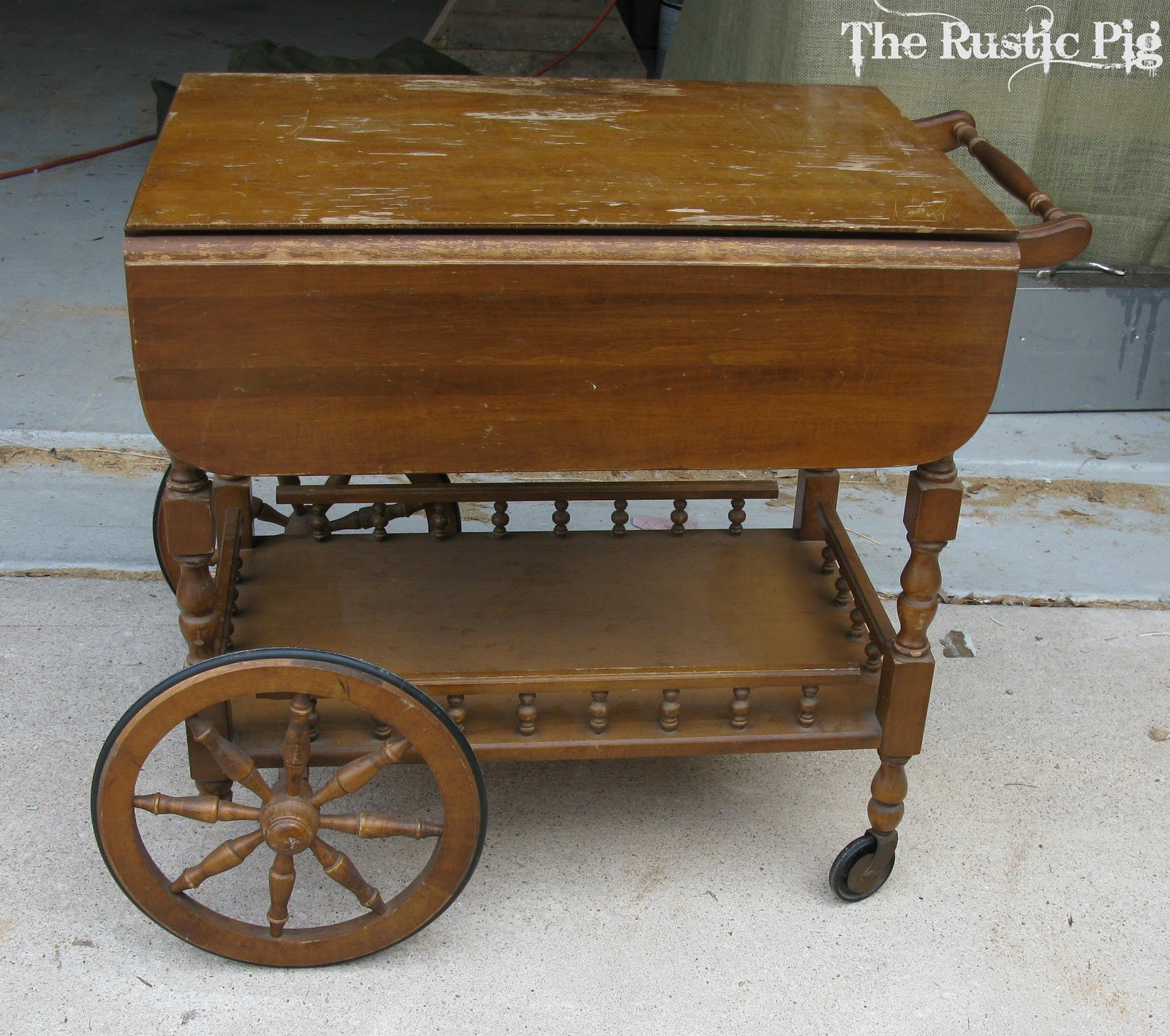 The Accidental Tea Cart The Rustic Pig