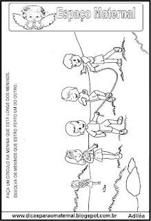 Atividade conceito preparatório maternal