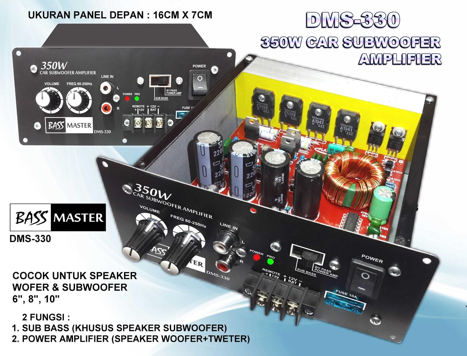 CAR SUBWOOFER AMPLIFIER 12VOLT 350WATT DMS330 | ELECTRONIC