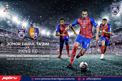Live Streaming JDT vs PKNS FC Piala FA 17.4.2019