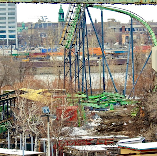 La Ronde Cobra, being removed 2018