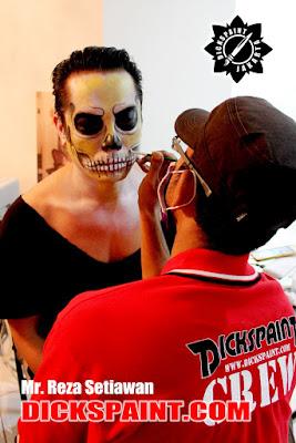 face painting skull skeleton jakarta